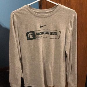 Michigan State Hockey Long Sleeve Tee